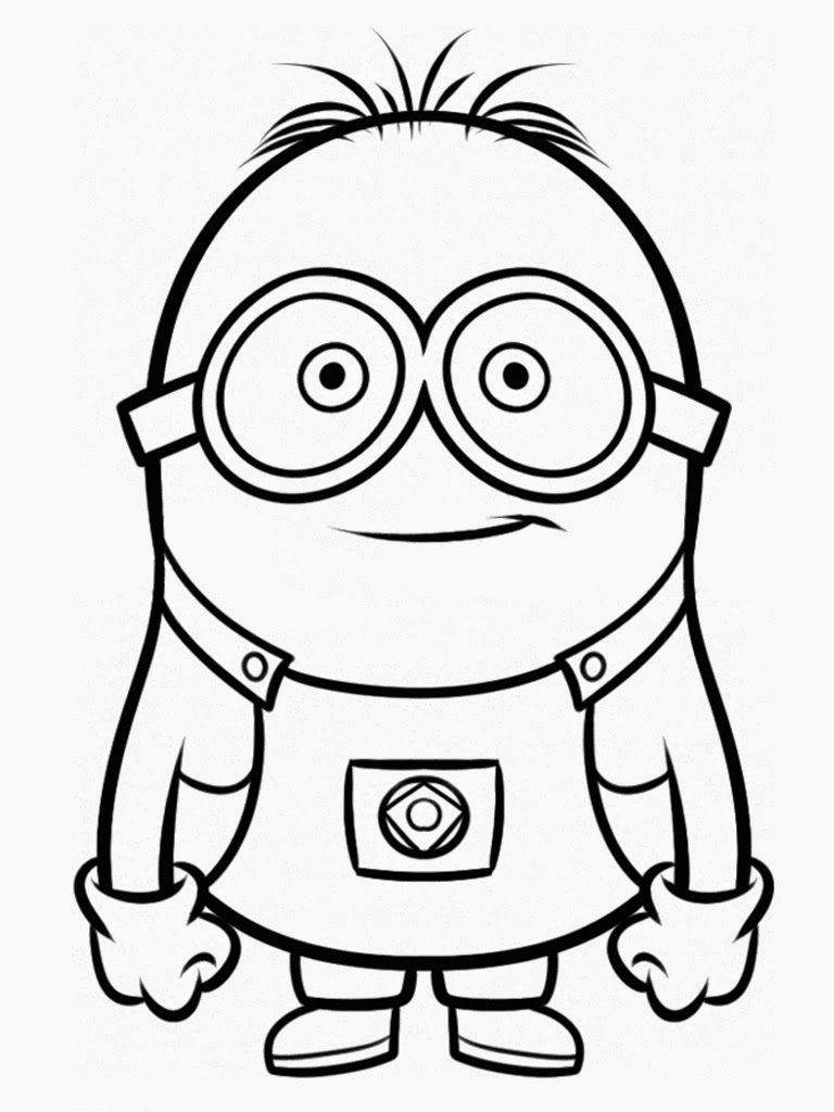 768x1024 Minion Free Printables Despicable Me Movie Coloring Pages