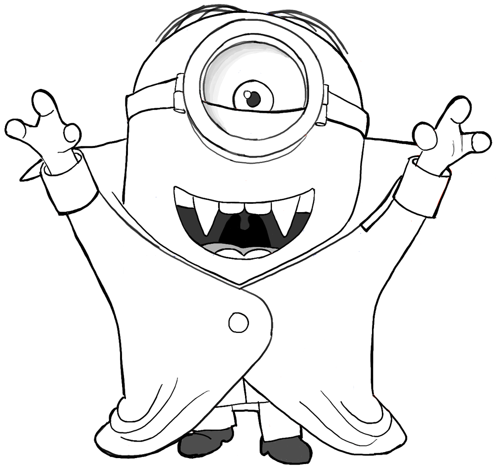 1000x940 Cartoon Minion Drawing How To Draw A Minion And More Fun Cartoons