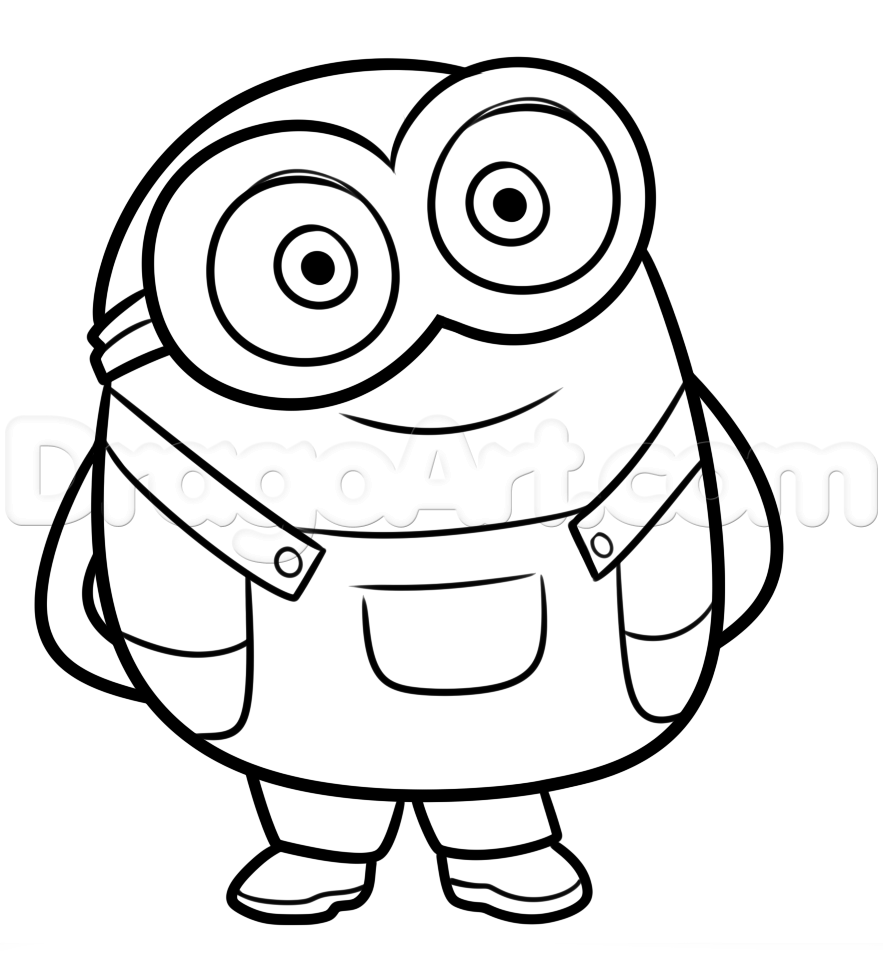 883x978 How To Draw Bob From Minions Step 7 Svg Files Bobs