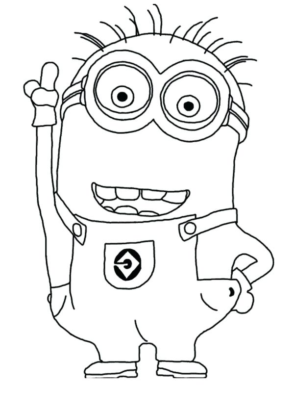 600x840 Despicable Me Coloring Pages The Minion Feeling Excited