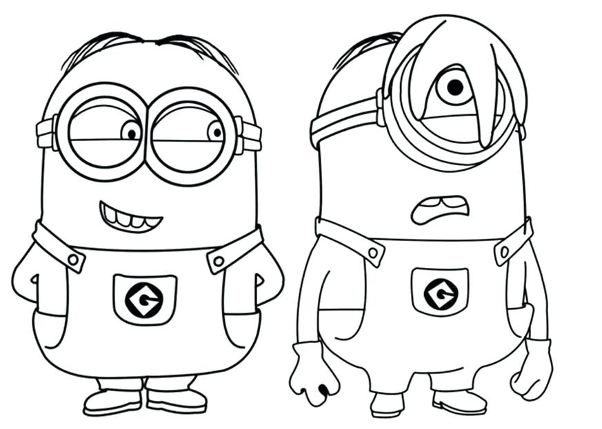 873x623 Despicable Me Minion Dave Coloring Sheets Pages