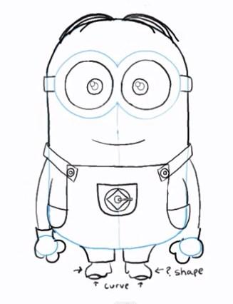 327x426 Draw Dave The Minion