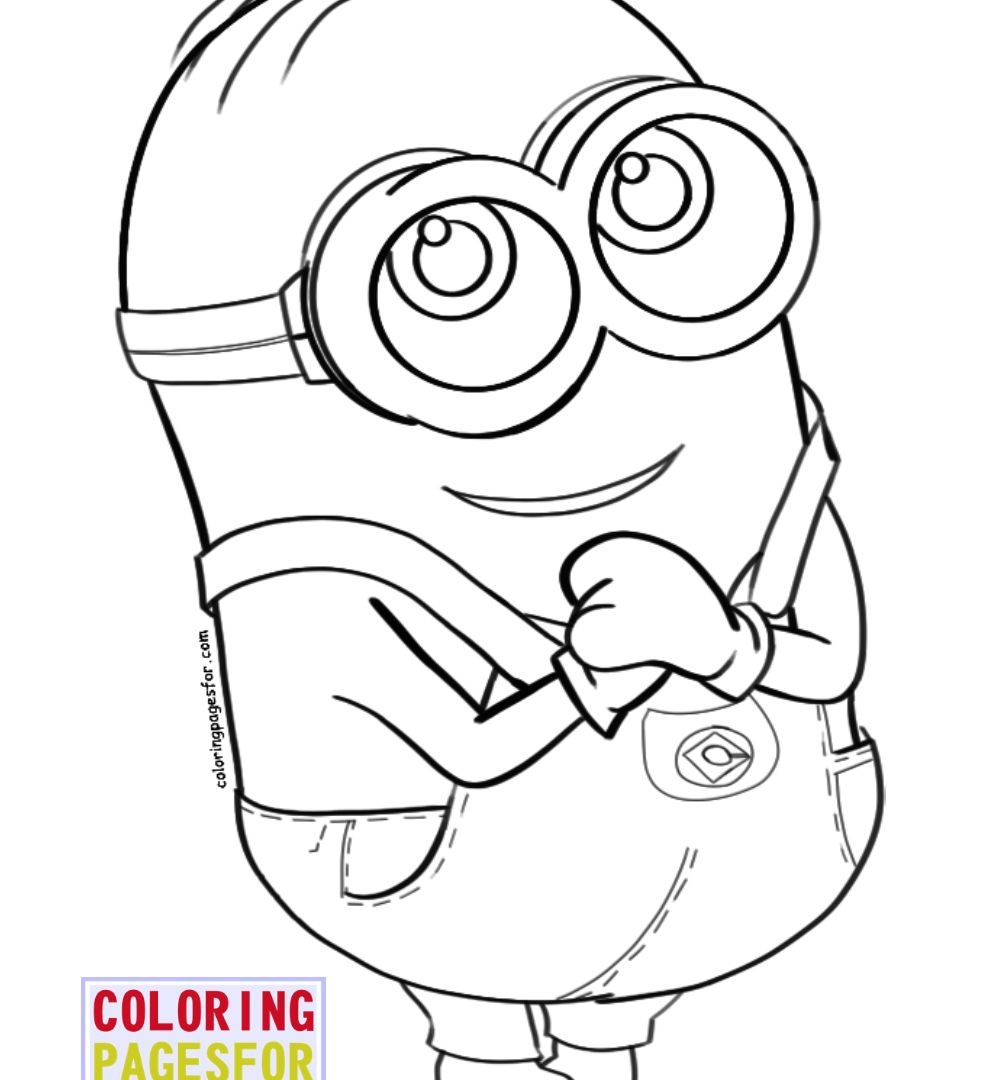 photo relating to Minion Eyeball Printable identified as Minion Dave Drawing at  Cost-free for unique