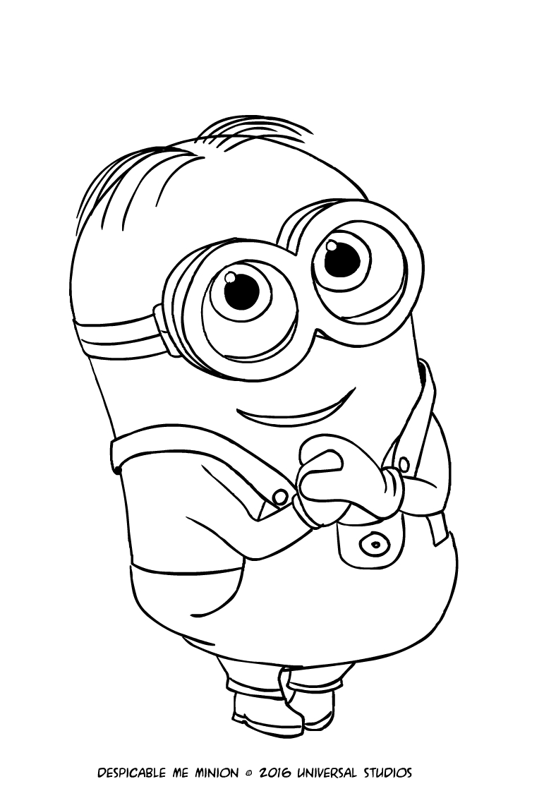 771x1121 Minion Dave Coloring Page