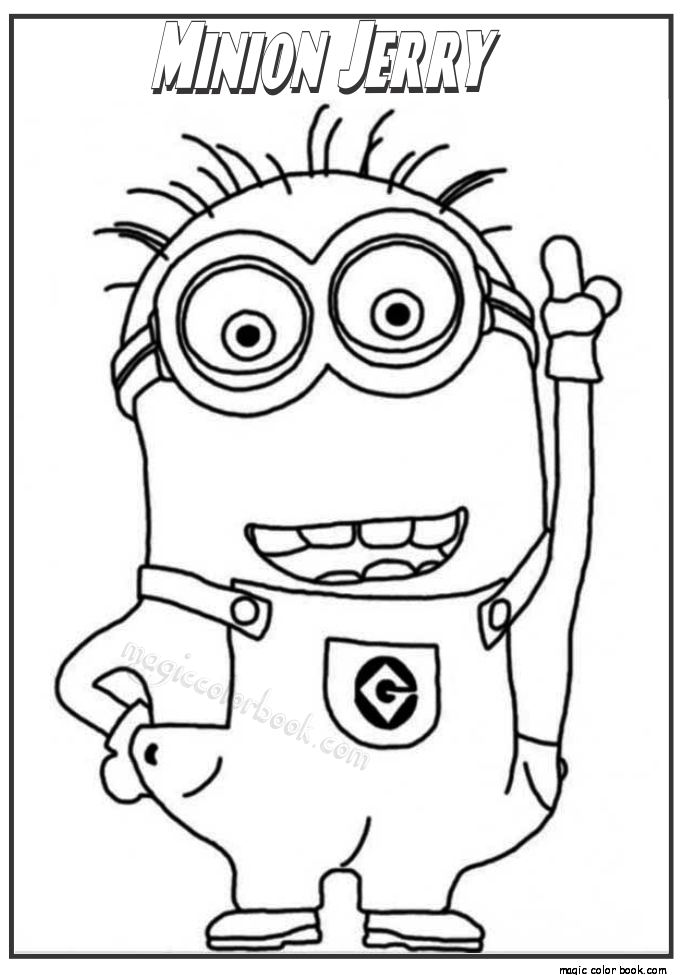 824x1186 Minion Stuart With Guitar Coloring Page Free Printable 685x975 Despicable Me Archives