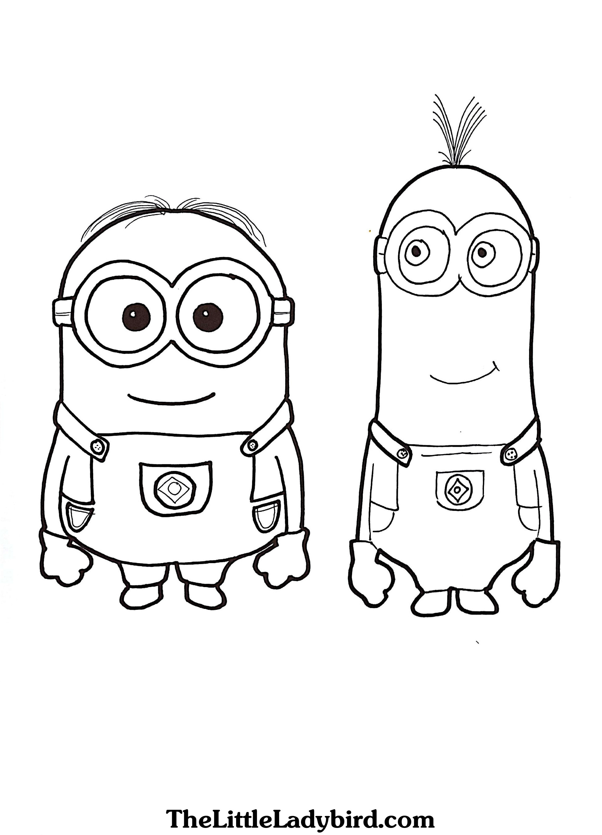 1958x2718 Minions Coloring Pages