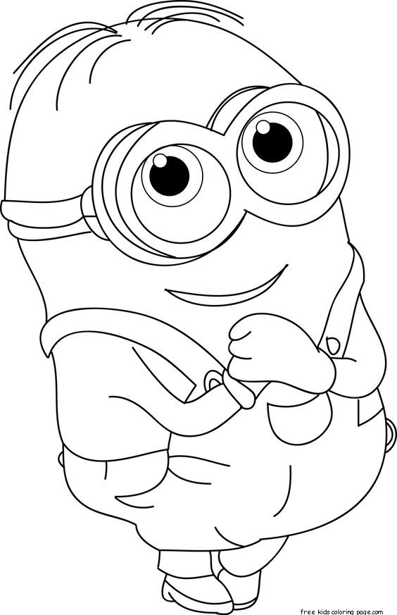 564x873 The Minions Dave Coloring Page For Kids