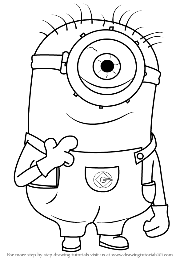 598x844 Learn How To Draw Stuart From Minions (Minions) Step By Step
