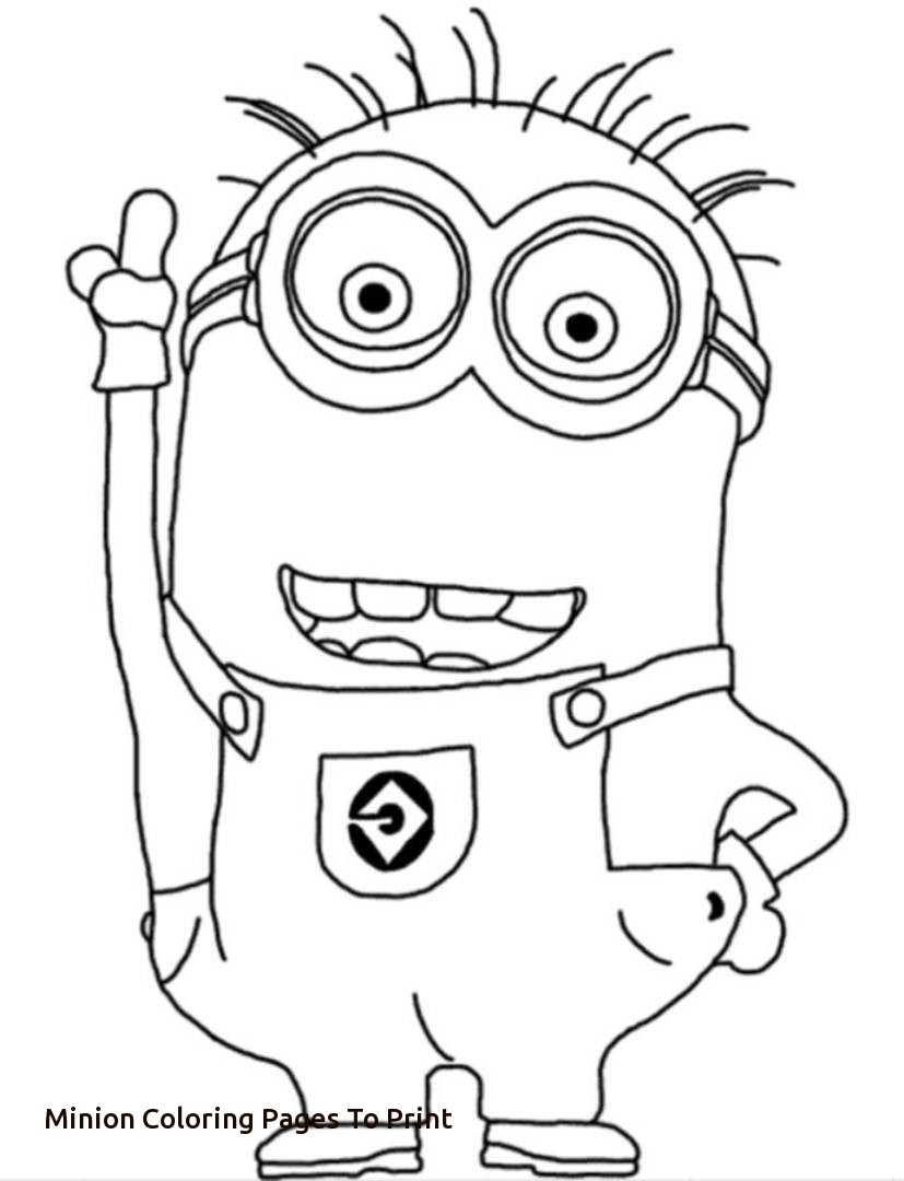827x1080 Bob The Minion Coloring Pages Printable