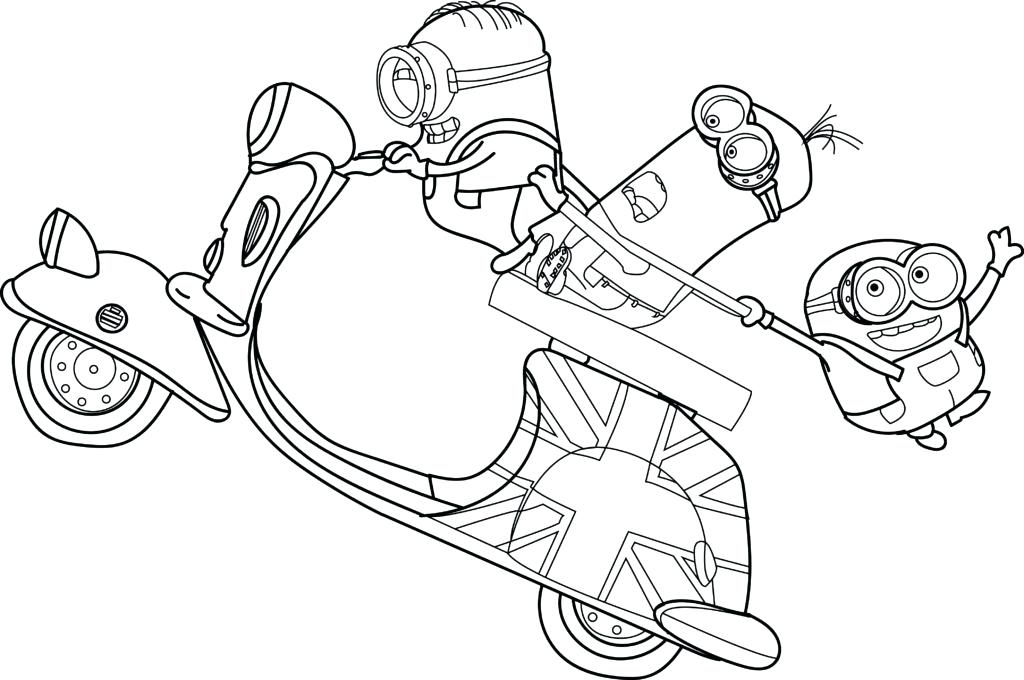 1024x680 Simple Minion Coloring Pages Best Of For Kids Free Printable Bob