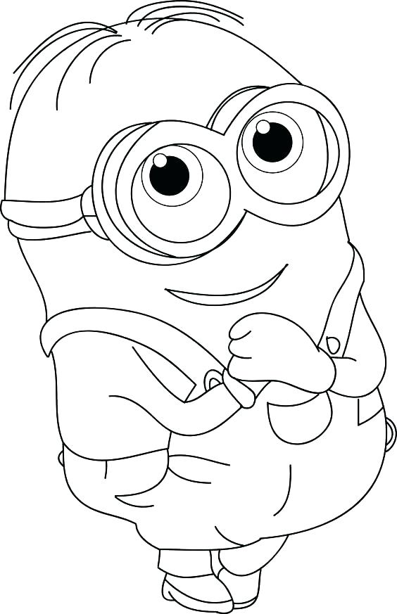 564x873 Minions Coloring Pages