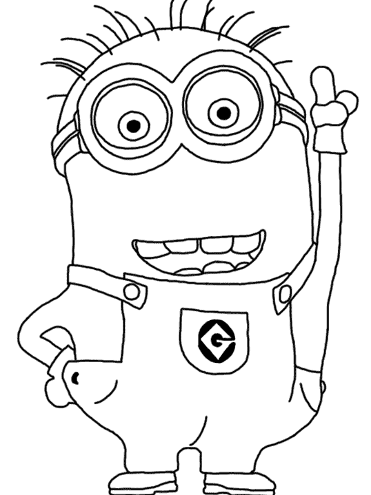 Minion drawing template at free for for Minion overall template