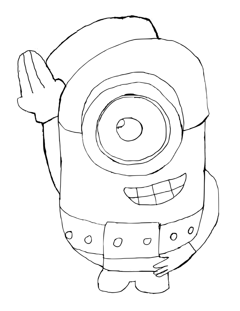 785x1018 Minion Outline (Template) By Mralexedoh