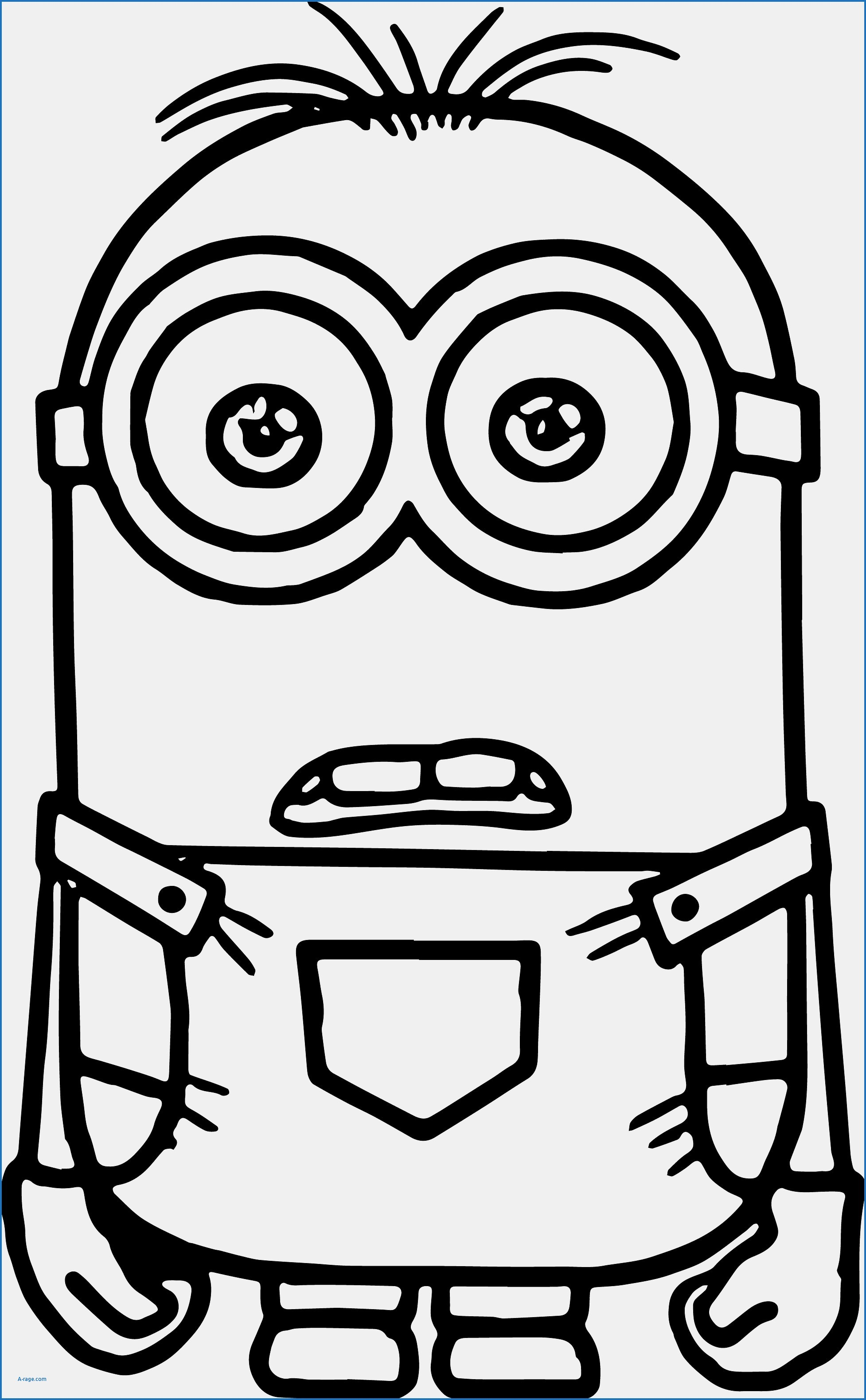 1954x3159 Minion Overall Template Lovely Awesome Minions Coloring Pages