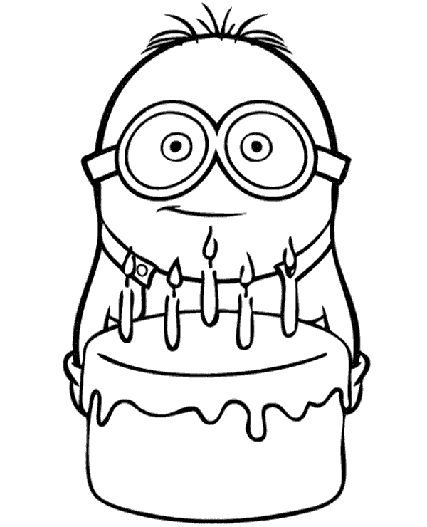 600x740 Minions Coloring Pages Birthday Tags Minions Coloring Pages How
