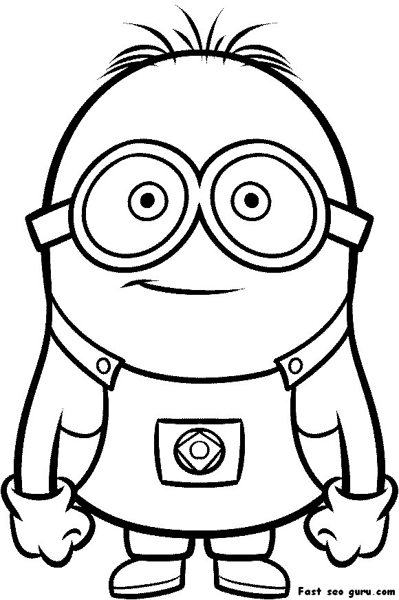 photo about Minion Template Printable named Minion Drawing Template at  Cost-free for