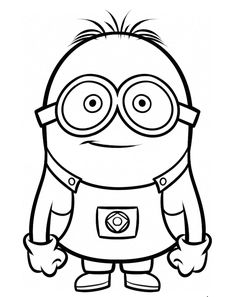 236x297 How To Draw Dave One Of The Minions From Despicable Me Drawing