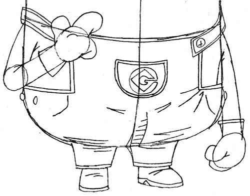 500x393 How To Draw Tim The Minion From Despicable Me With Easy Step By