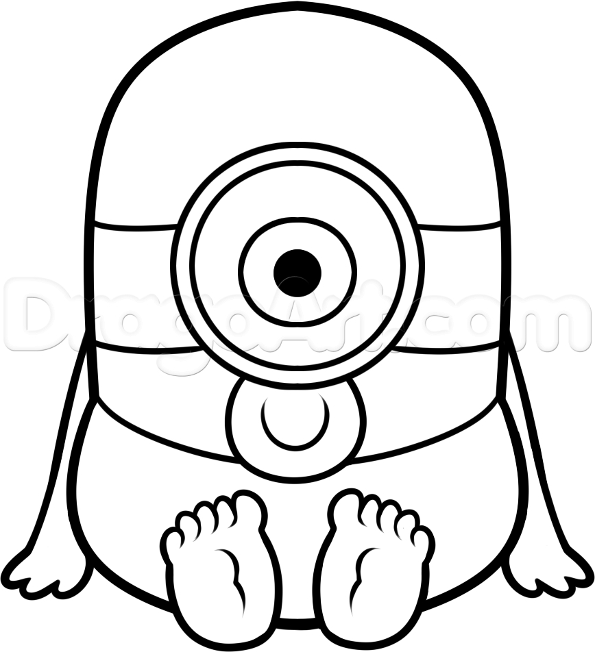 868x952 Minion Drawing Step By Step How To Draw A Baby Minion, Step By