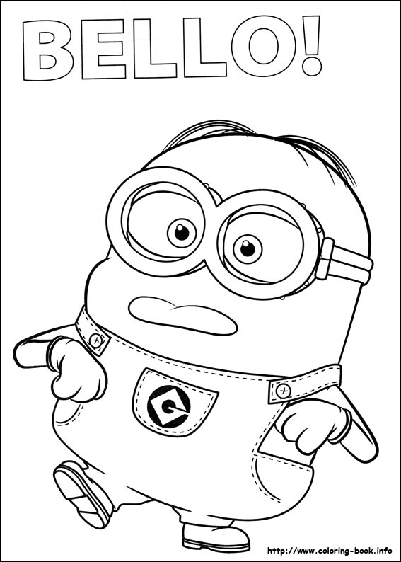567x794 Minions Coloring Pages To Print Tags Minions Coloring Pages Easy