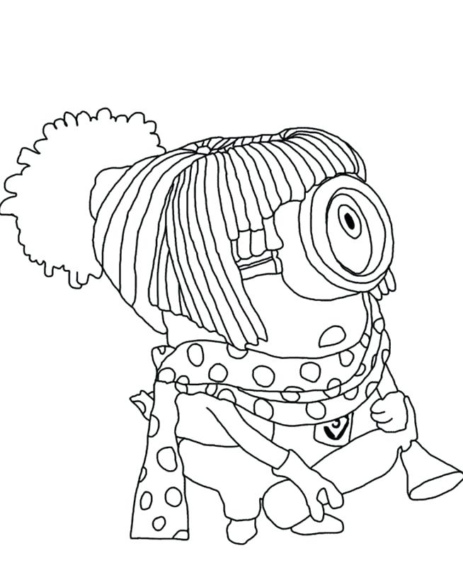 654x812 Despicable Me Minions Coloring Pages Despicable Me Girl Minion