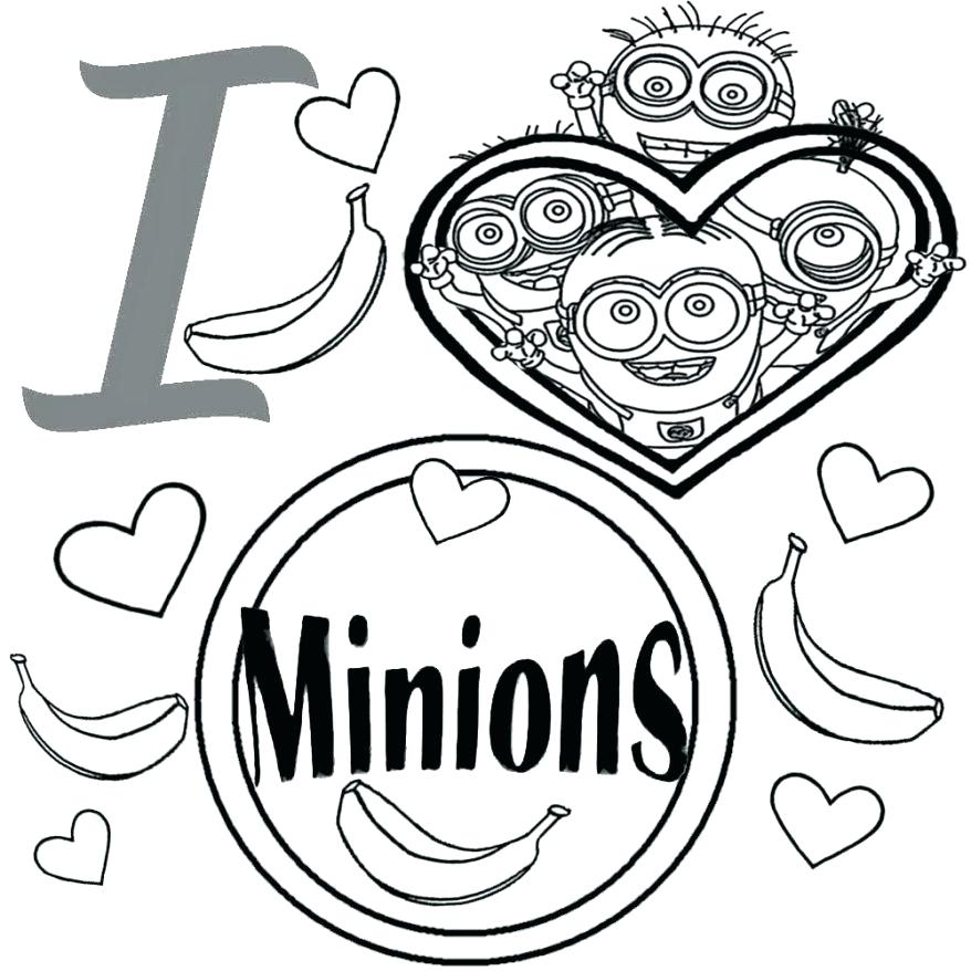878x878 Minion Coloring Pages To Print Packed With Despicable Me Minions
