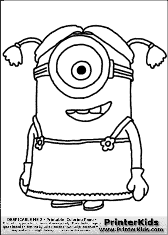 580x812 Despicableme2 Minion 004.png Embroidery Coloring