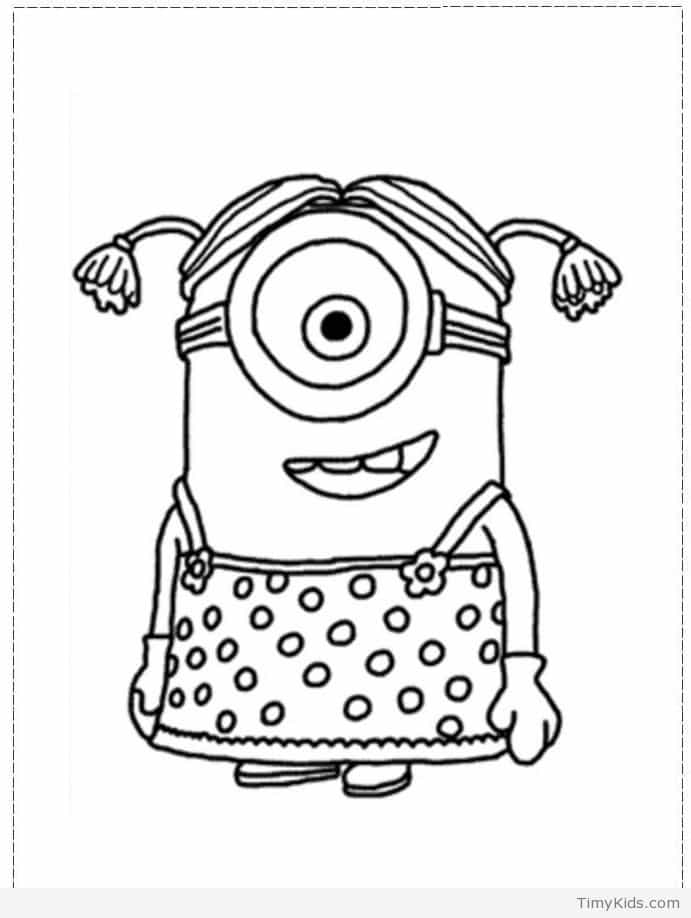 Minion Outline Drawing