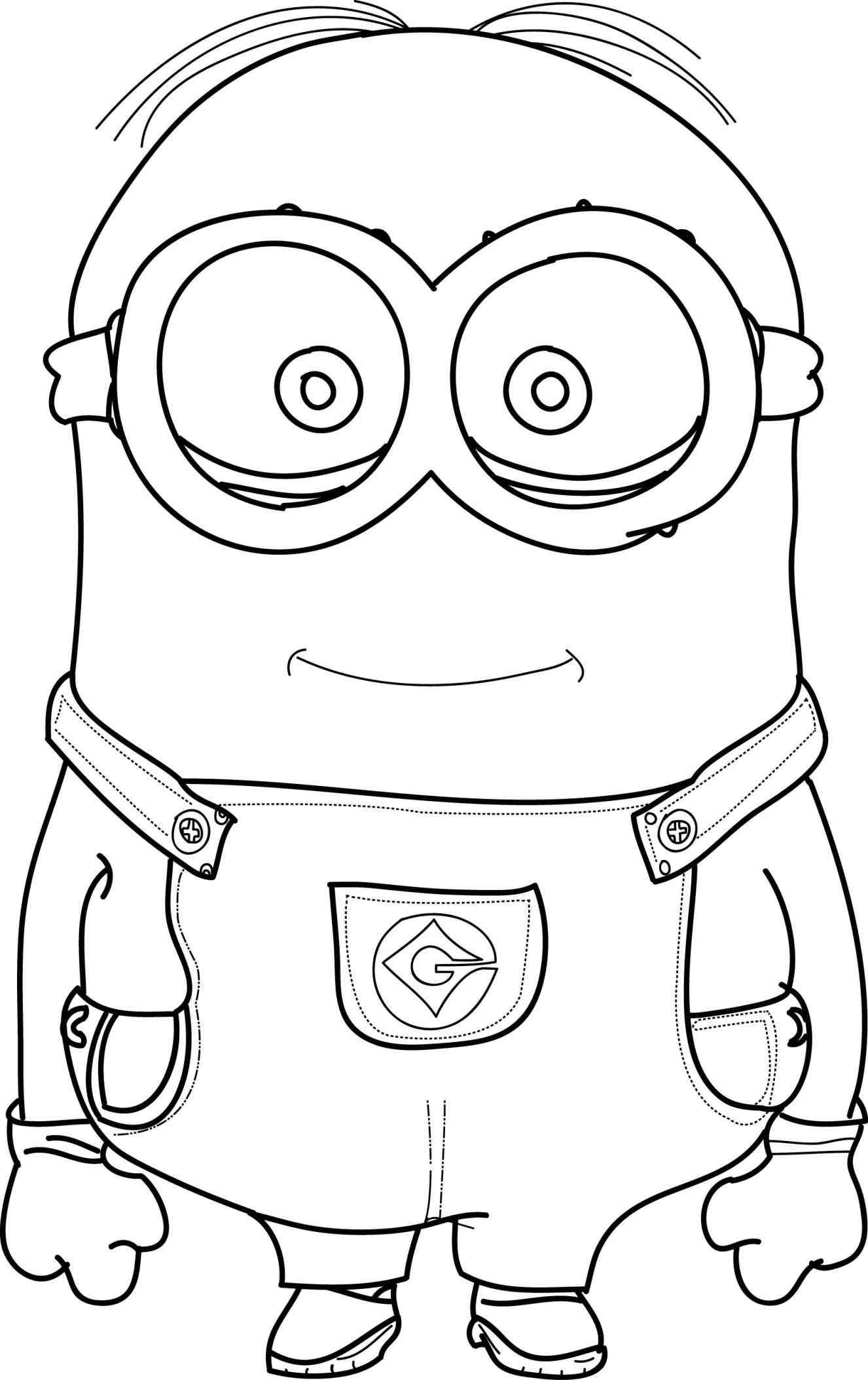 Minion Outline Drawing At Getdrawingscom Free For Personal Use
