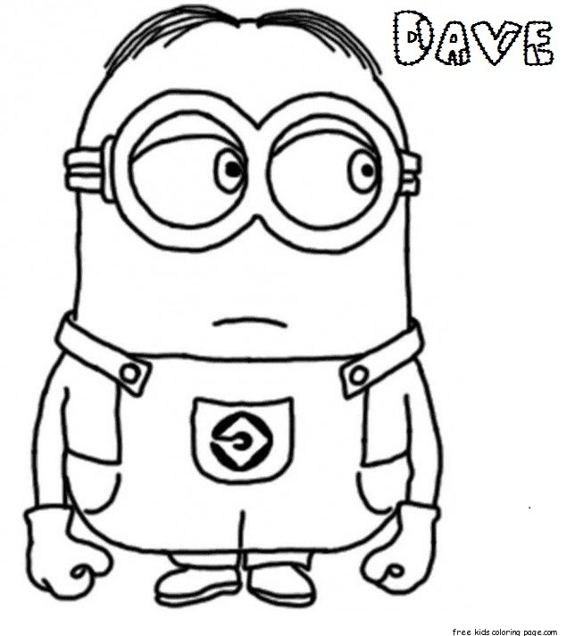 Good 644x713 Print Out Pictures Preschool For Beatiful Draw Dave The Minion