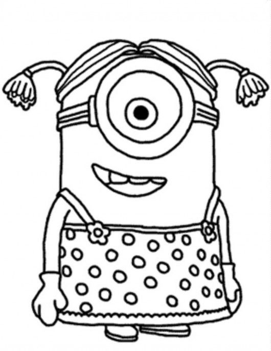 530x685 Free Coloring Pages For Girls Minion Costume