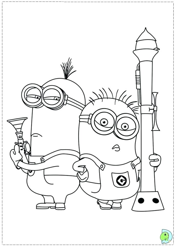 691x960 Idea Minions Coloring Pages For 99 Minion Colouring Pages King Bob