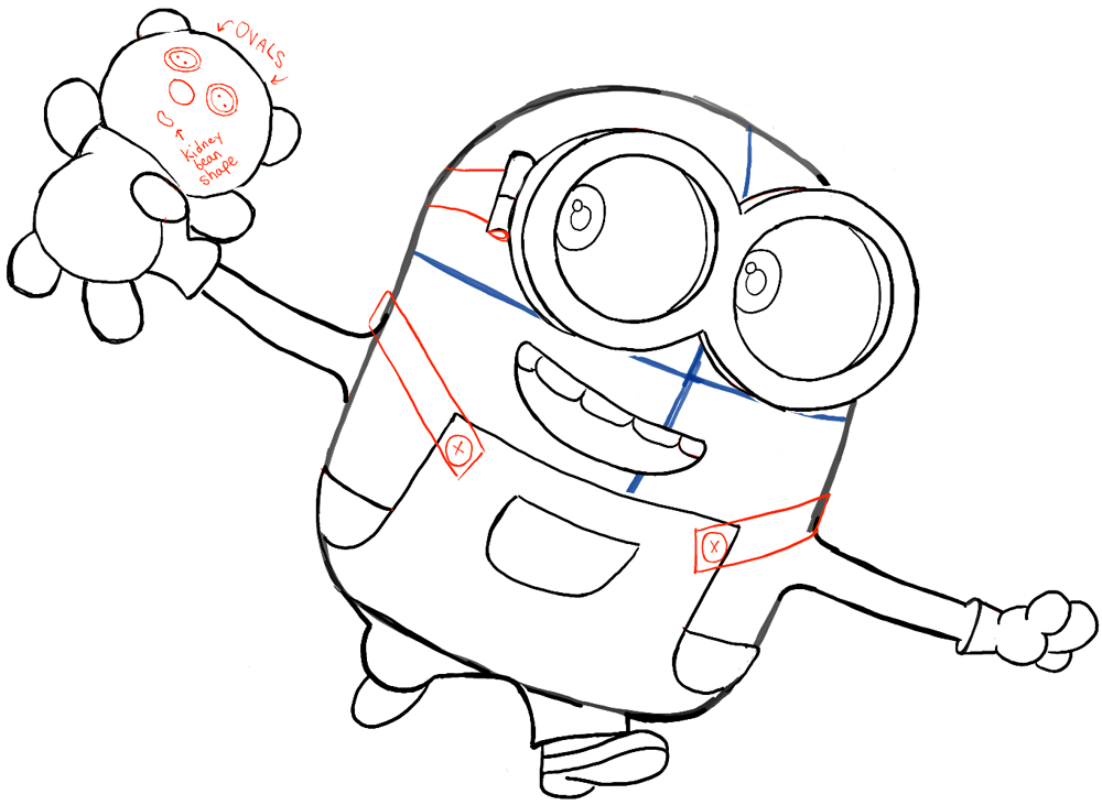 1000x731 Learn How To Draw Bob Running Around With His Cute Little Teddy