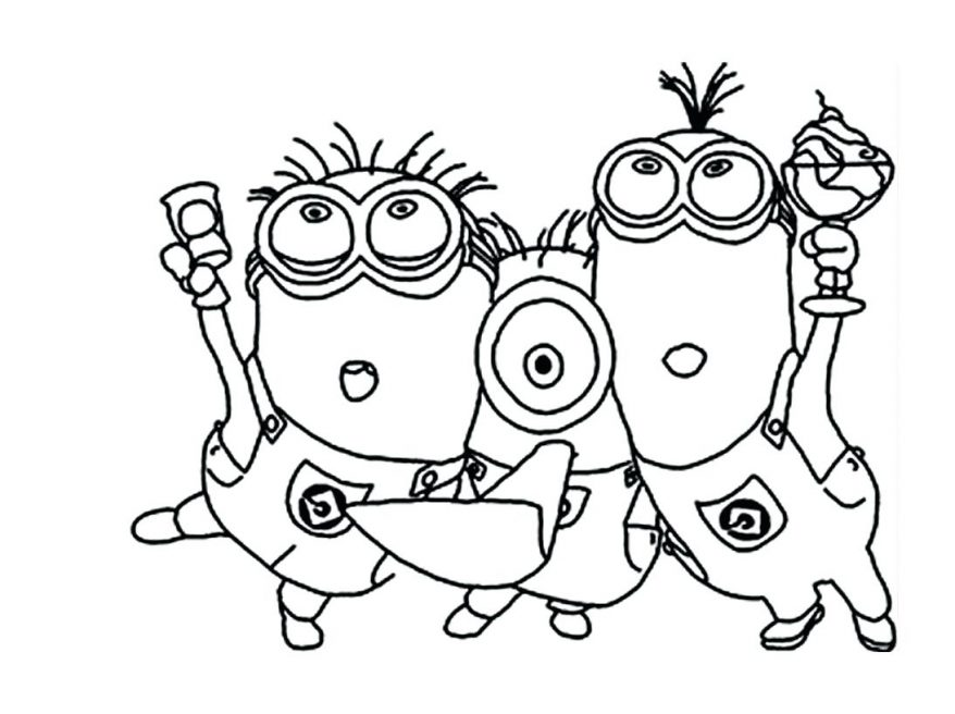 878x656 Minion Coloring Pages Printable Page 40 Various Colouring Free