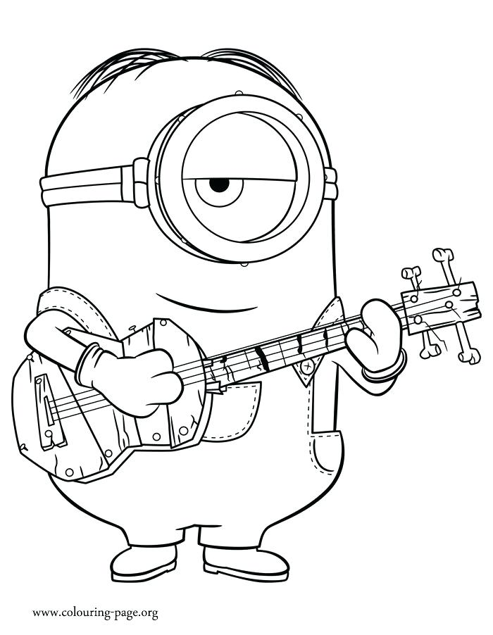 700x902 Minion Coloring Pages To Print Also Minions Pictures To Print