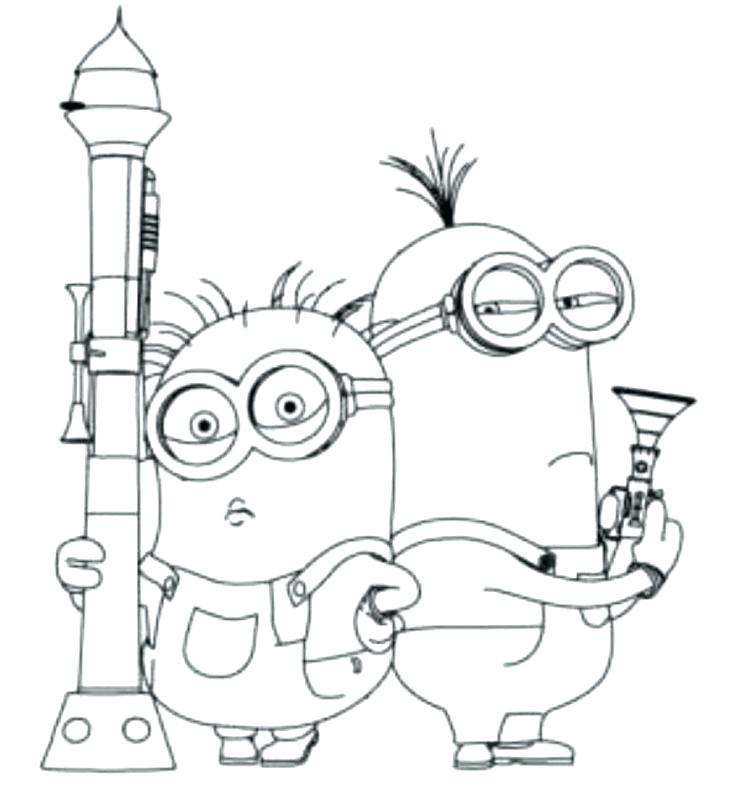 736x787 Minion Printable Coloring Pages Minion Coloring Book In Addition