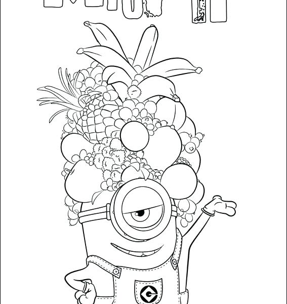 567x600 Top Rated Minion Coloring Pages Pictures Minion Pictures To Colour