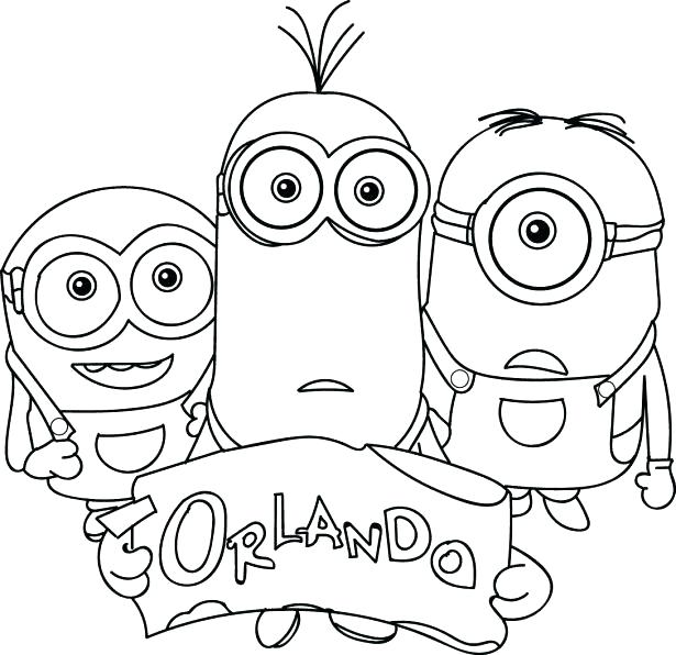 615x596 Coloring Pictures Of Minions
