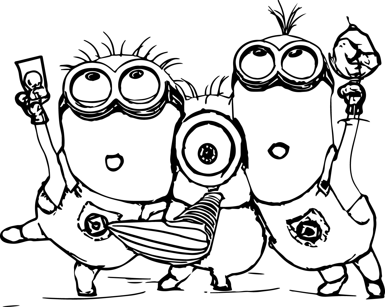 1627x1296 Bob The Minion Coloring Pages Printable
