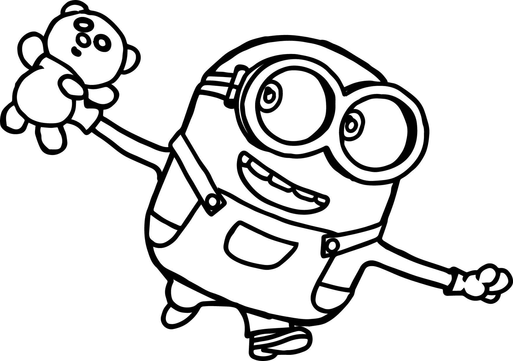 1756x1237 Coloring Pages Minions Bob Coloring Page For Kids