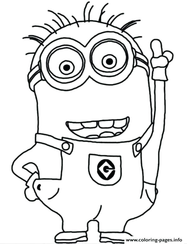 600x783 Coloring Pages Of Minions Crazy The Minion Coloring Page Coloring