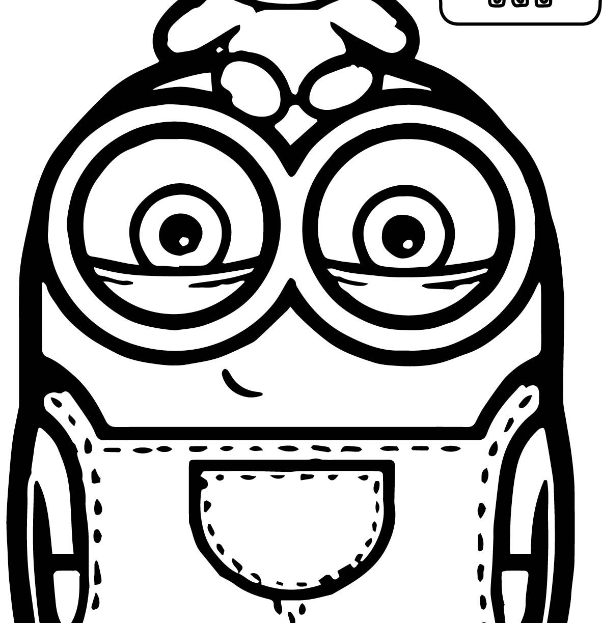 1182x1224 Minions Coloring Page Pages Free Download Cartoon Minion Printable
