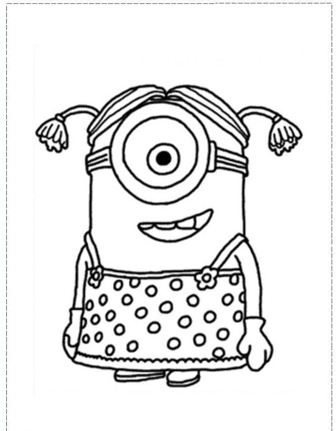 691x888 Minion Coloring Pages