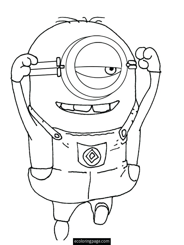 698x929 Gru Coloring Page The One Eyed Minion Coloring For Kids Despicable