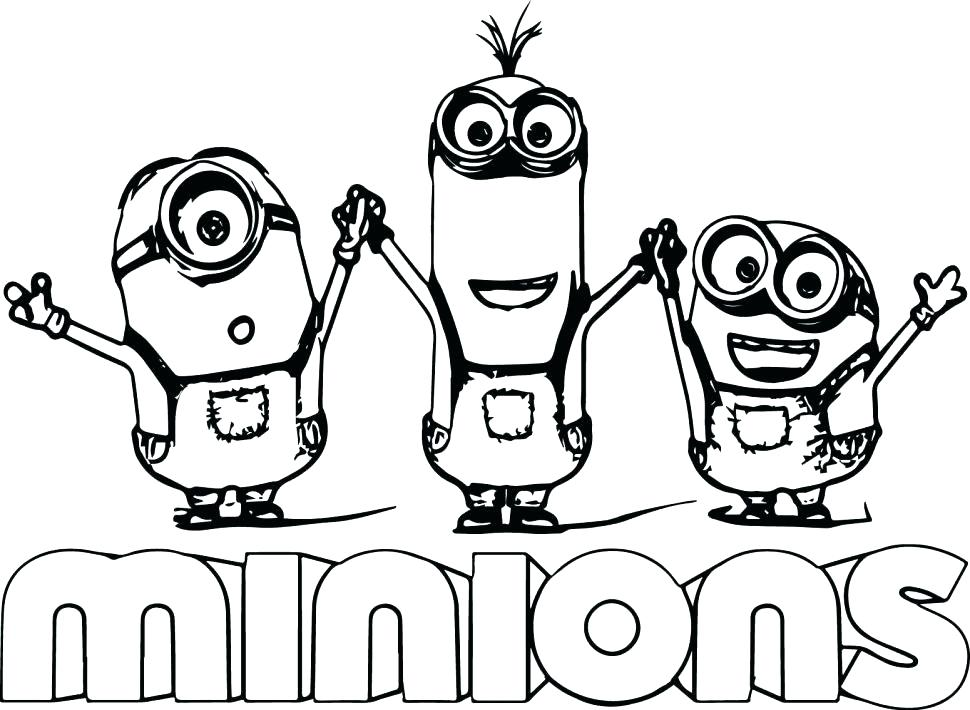 minions drawing for kids at getdrawingscom free for