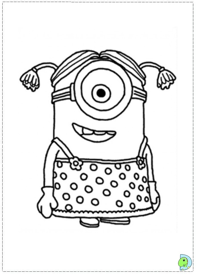 691x960 Minions Coloring Pages Free For Kids