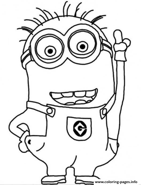 600x783 Minions Free Coloring Pages For Kids Minion Colouring Sheets