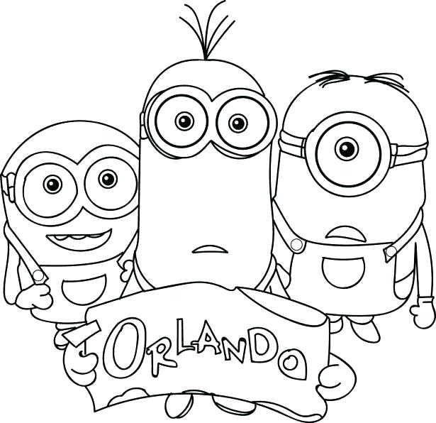 615x596 Minions Coloring Book As Well Minion Pages Excellent