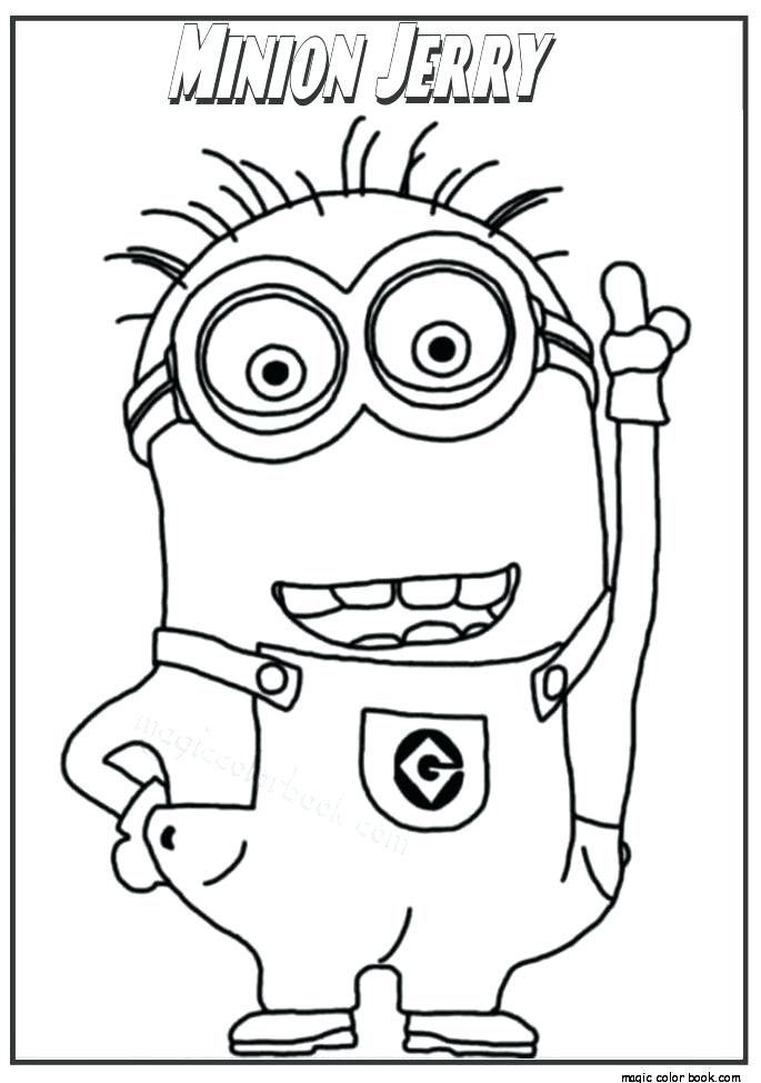 685x975 Coloring Minions Free Minion Printable Book Games On