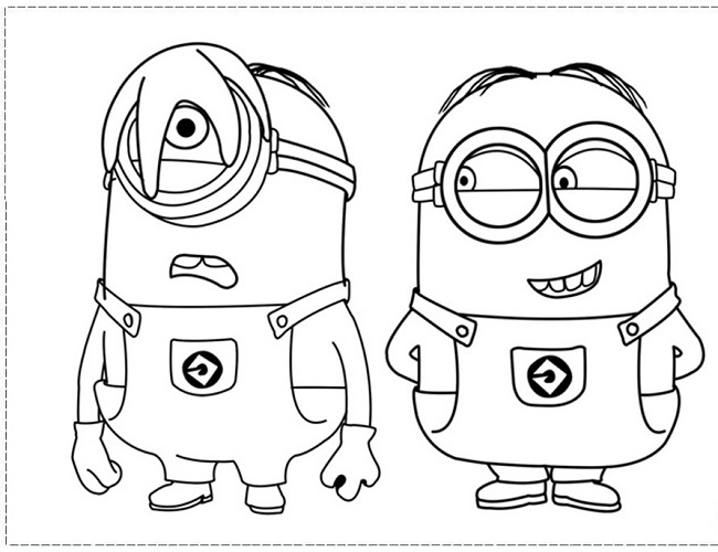 650x500 Coloring Pages Of Minions From Despicable Me Coloring Pages